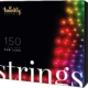 Twinkly Smart Decorations Custom LED String Lights – App Controlled Light Strings with 150 Multi-Color RGB LED Lights, Multicolor