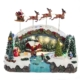 "10.5"" Musical LED Village with santa and Reindeer Motion, Battery Operated"