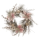 """20"""" Champagne & Gold Wreath with Pink Pointsettias"""