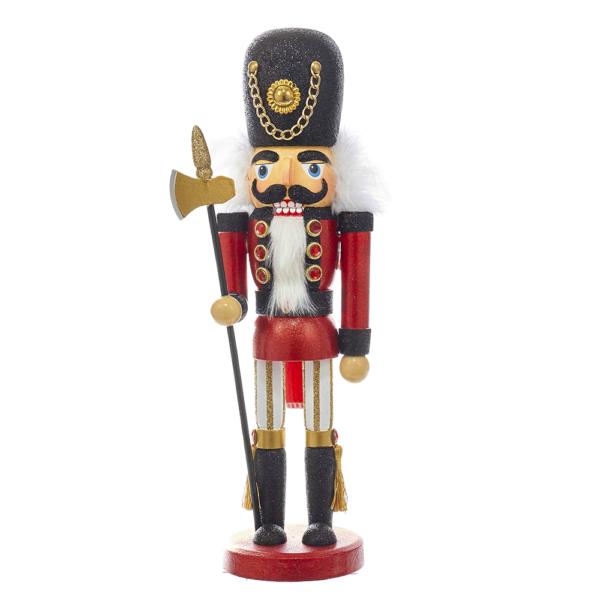 "15"" Hollywood Red/Black Soldier Nutcracker"