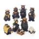 """4"""" 9pc Resin Bear Nativity Scene"""