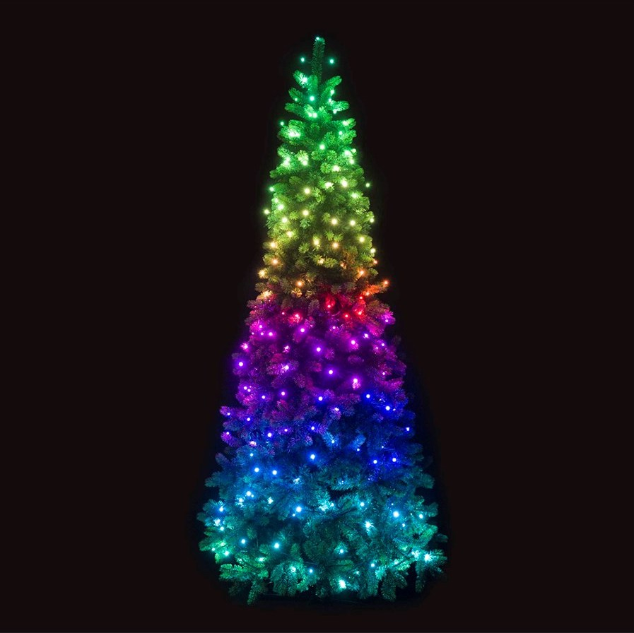 sports shoes 1c209 68afd Twinkly™ 7-Foot Pre-Lit LED Hinged Pine Christmas Tree